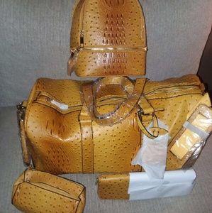 Matching overnight bag and purse